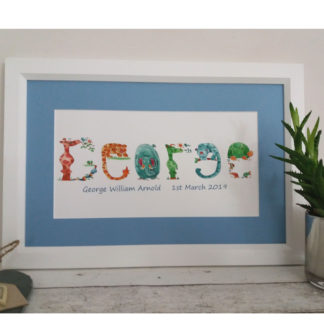 Jungle framed name picture