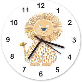personalised lion nursery clocks