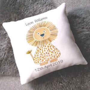 personalised baby boy cushion
