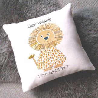 personalised baby boy cushion