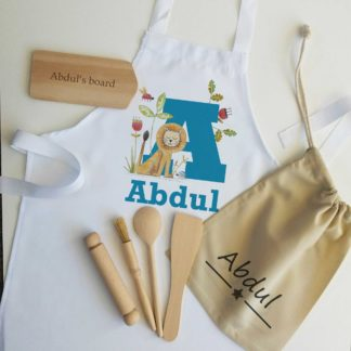 Lion Initial Personalised Apron