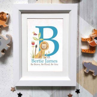 Framed Name Art Personalised letter baby gift idea