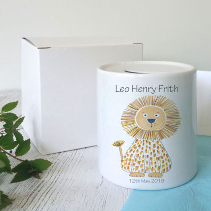 Personalised baby boy money box