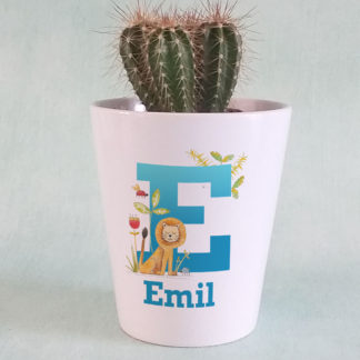 Personalised Lion Plant Pot