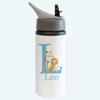 Lion Bottle with Straw for Boy