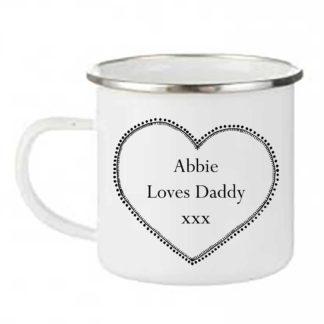 Daddy's enamel camping Mug