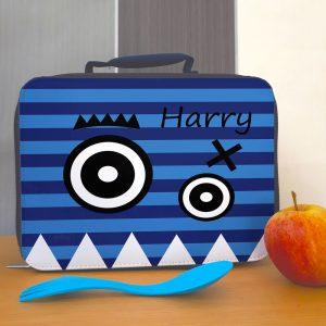 boys blue school lunch bags