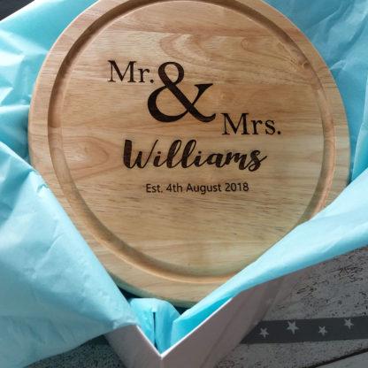 Mr & Mrs Wedding Chopping Board