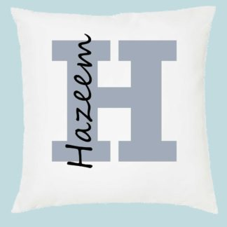 name on a cushion