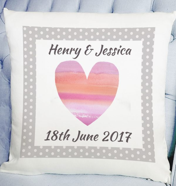 personalised wedding day gift cushion