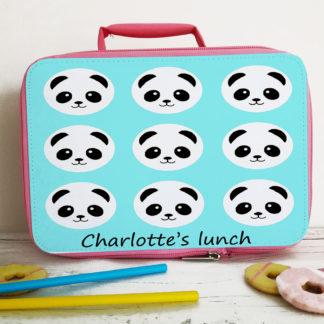 panda girls lunch bag