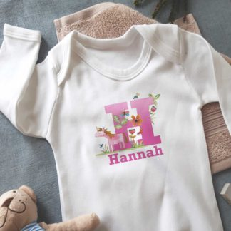 Personalised Baby Unicorn Sleepsuit