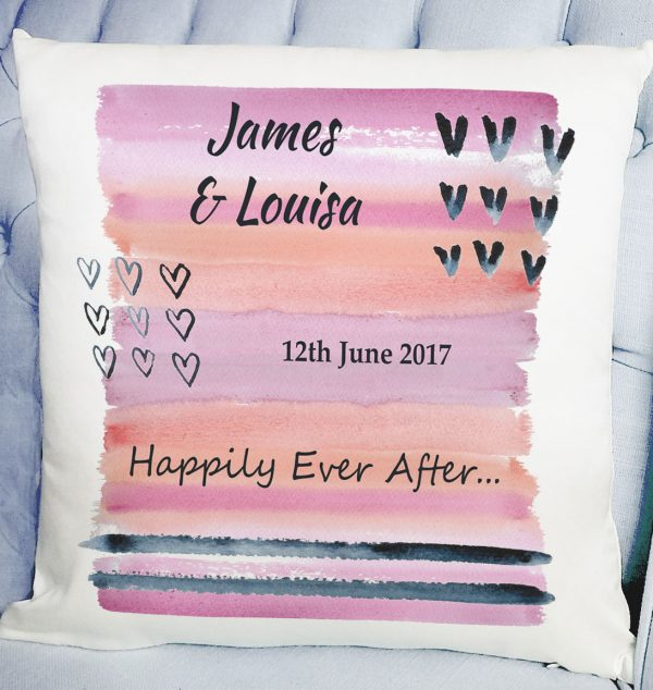 gift for wedding day personalized cushion