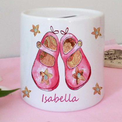 Pink Shoes Money Box