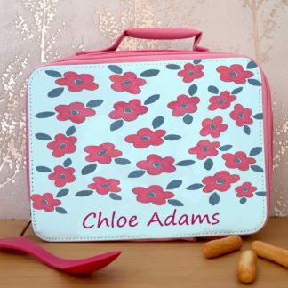 Girls Lunch Bags-Personalised School Lunch Bags-Tiger Lily