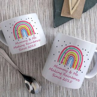 MMummy & Me Rainbow Mugs