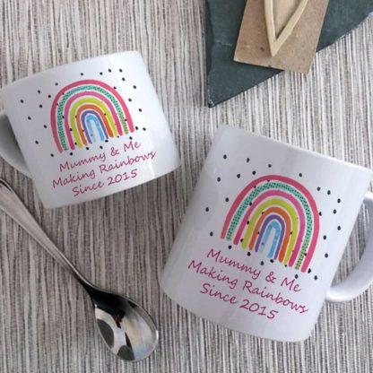 MMummy & Me Rainbow Mugs