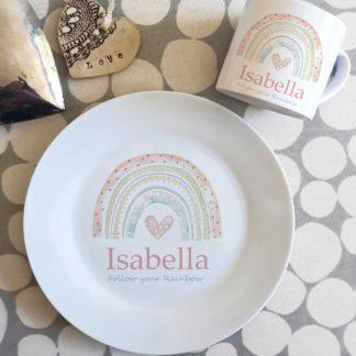 Rainbow Dinner Plate Set