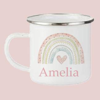 rainbow camping mug