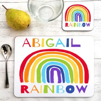 Rainbow Personalised Placemat