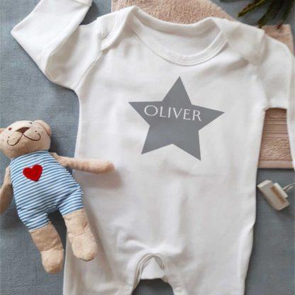 star grey sleepsuit