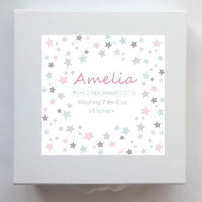 stars pastel keepsake box