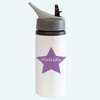 Purple Drinks Bottle With Straw