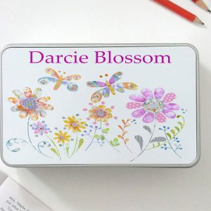 personalised girls tin