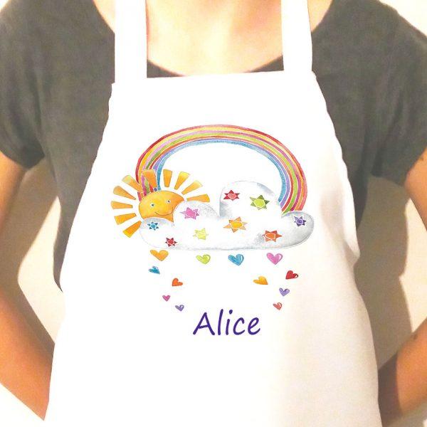girls personalised sunshine apron