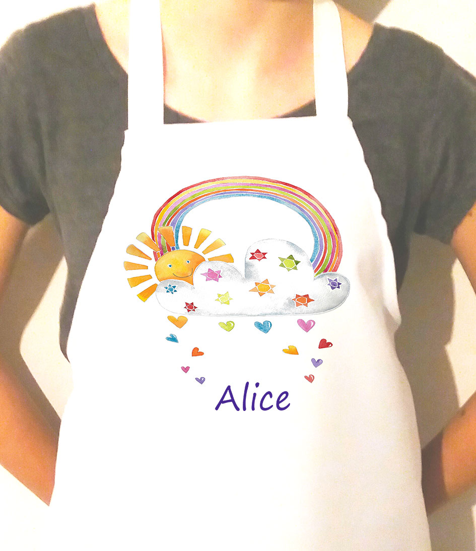 girls personalised sunshine apron
