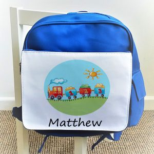 boys personalised school bag