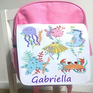 girls personalised bag