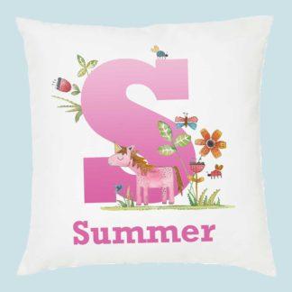 unicorn personalised cushion