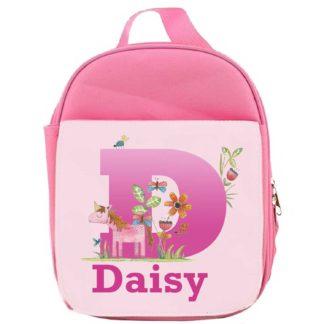 Unicorn Initial Lunch Bag