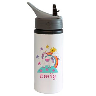 Unicorn Bottle with Straw
