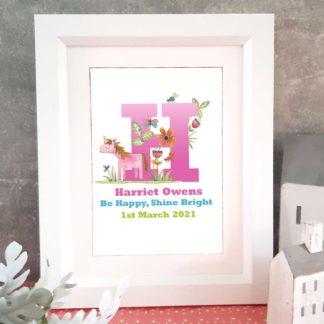 Unicorn letter name frame