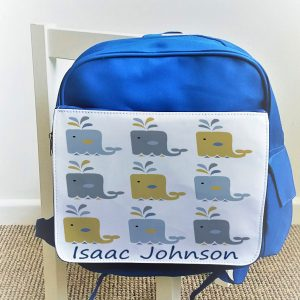 personalised boys nursery bag