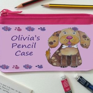 girls pink pencil case