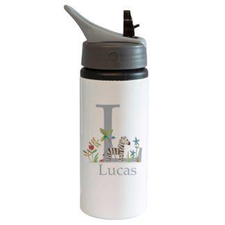 Zebra Personalised bottle