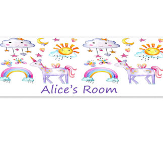 personalised unicorns door sign