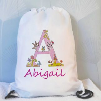 girls alphabet swim bag