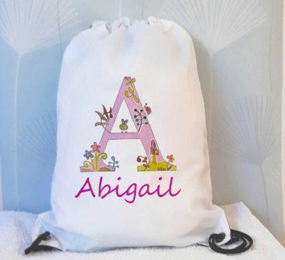 girls alphabet swim bag