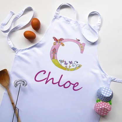 girls alphabet apron