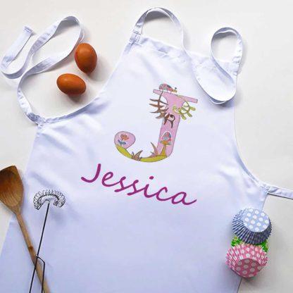 personalised alphabet apron