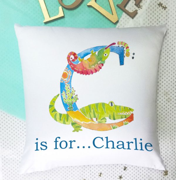 personalized name cushion