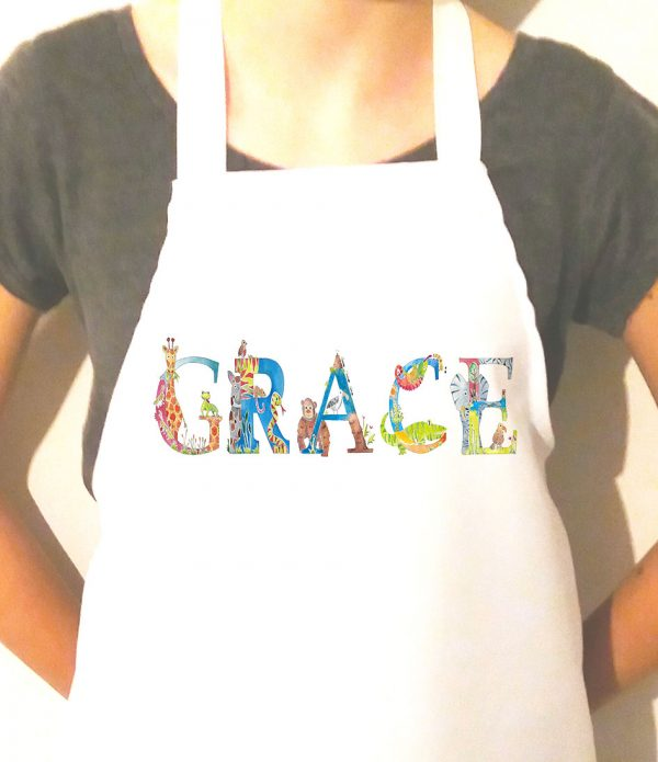 personalised aprons are an ideal cooking gift.