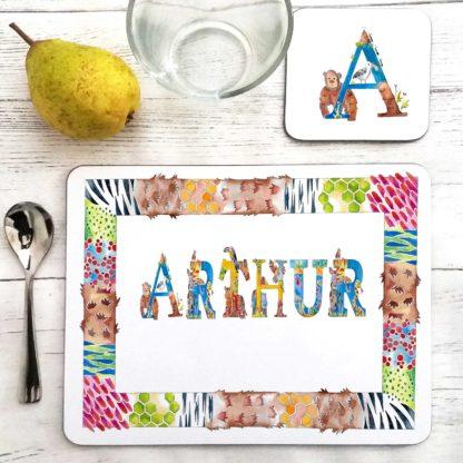 alphabet name placemat