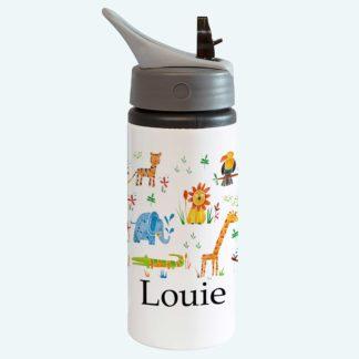 Animal Personalised straw bottle