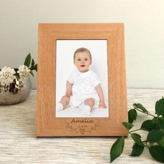 baby christening photo frame