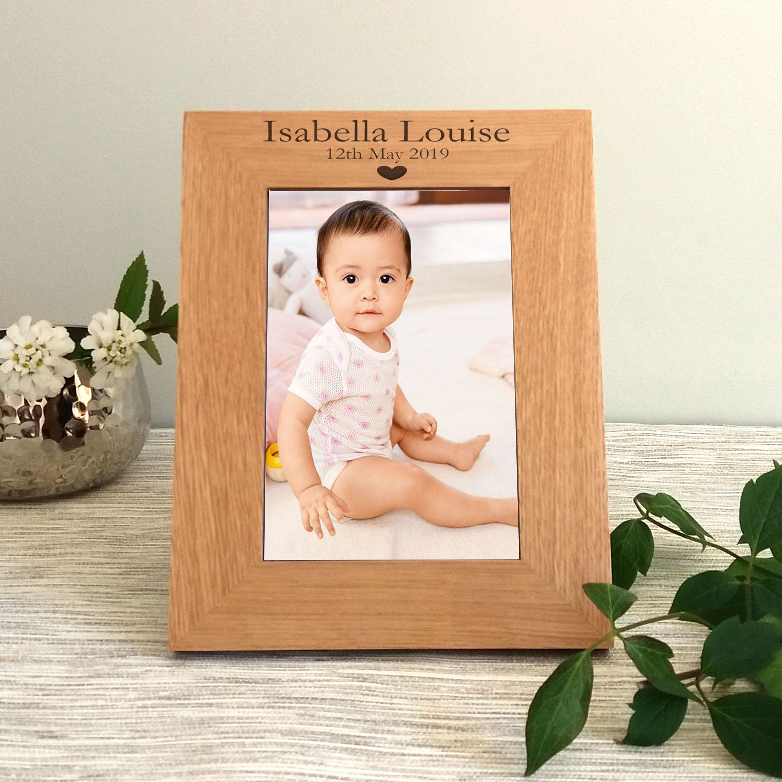 Personalised Baby Grandson Landscape Photo Frame